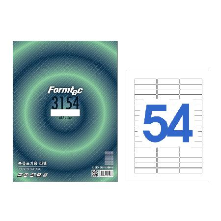 폼텍 분류표기용 라벨 100매 54PCS LS-3154