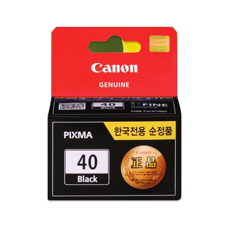 캐논 PG-40BK 정품잉크(검정) 16mL / iP1200