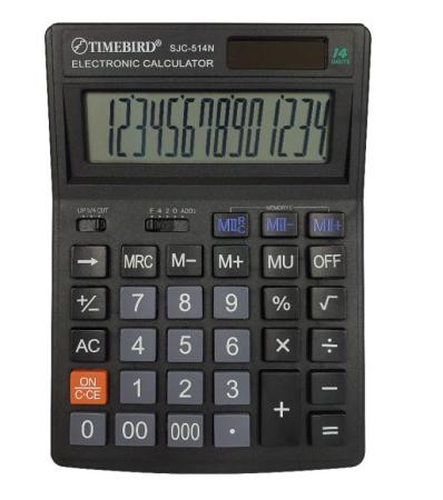 TIMEBIRD 계산기(SJC-514N) 14자리