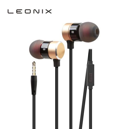 레오닉스 LEO-E03 에어덕트 이어폰 블랙/골드
