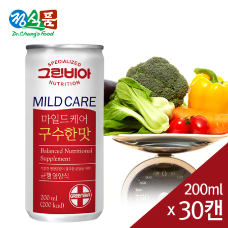 그린비아 마일드케어 구수한맛 200mlx30캔/BOX