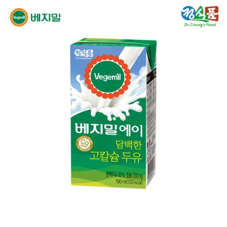 베지밀A 담백한 고칼슘 두유 190ml*16팩/SET