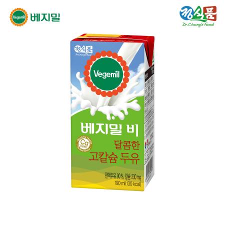 베지밀B 달콤한 고칼슘 두유 190ml*16팩/SET