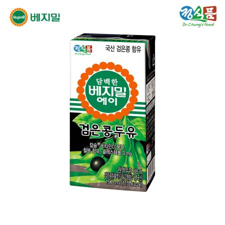 담백한 베지밀A 검은콩 두유 190ml*16팩/SET