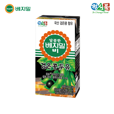 달콤한 베지밀B 검은콩 두유 190ml*16팩/SET