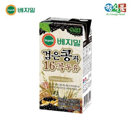 베지밀 검은콩과 16곡 두유 190ml*16팩/SET