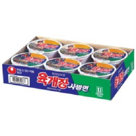 농심 육개장사발면 86G*6개입/BOX