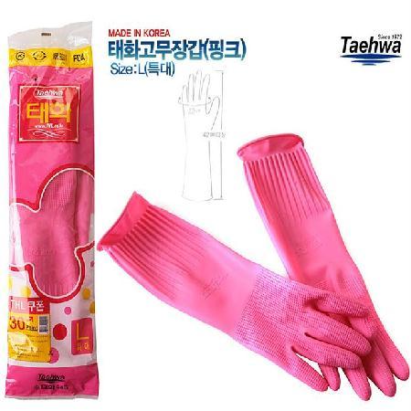 태화 고무장갑(L) 핑크*10켤레 42*22cm