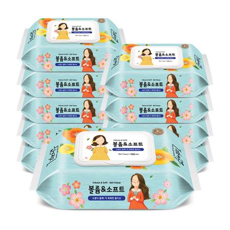 한예지 볼륨앤소프트 애플민트향 캡형 100매 10팩/BOX