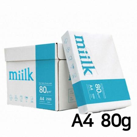 한국제지 밀크 복사용지(A4/80g/500매*5권) 1BOX반품불가