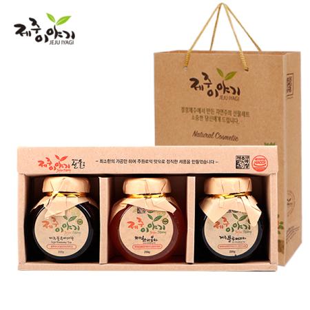 제주이야기 꼬마 액상차 3종 선물세트 전용 쇼핑백 증정 (한라봉